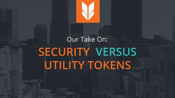 Security tokensvsutility tokens