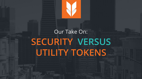 Security tokensvsutility tokens